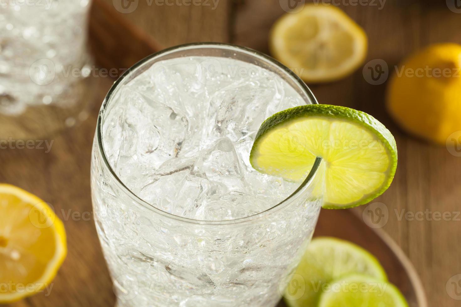 uppfriskande citron och lime soda foto