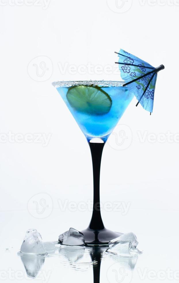 blå is foto