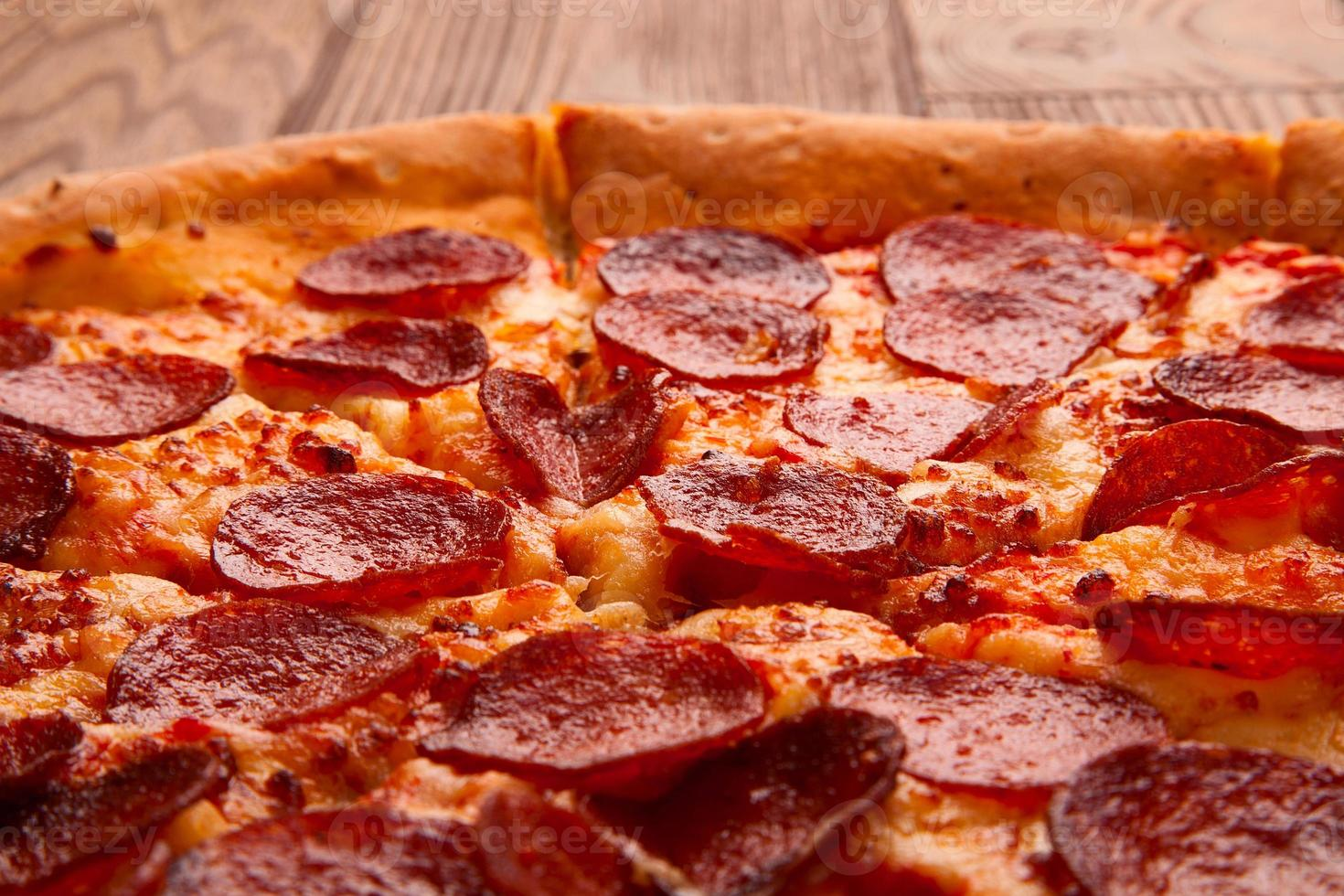 läcker färsk pizza foto