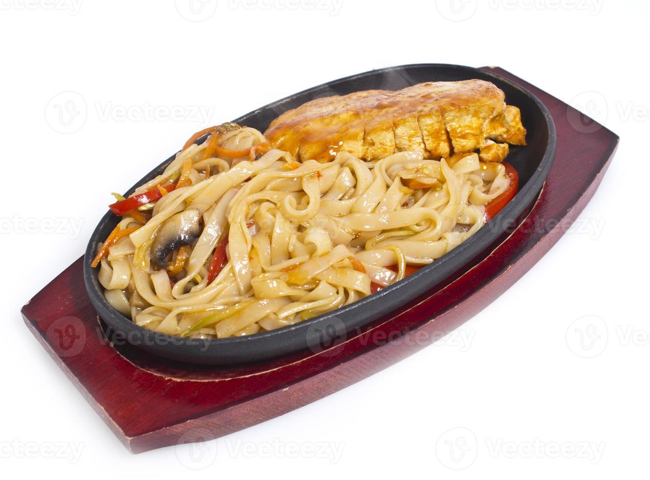 thailändska nudlar med pasta curry foto