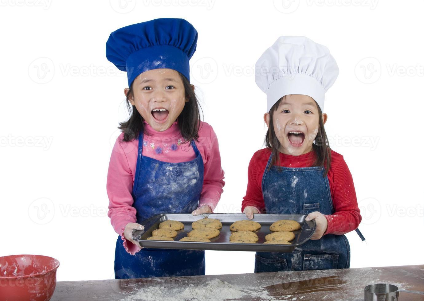 barn matlagning foto