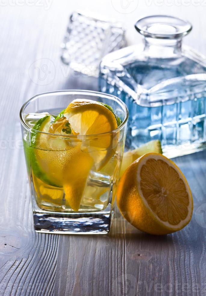 gin med tonic foto