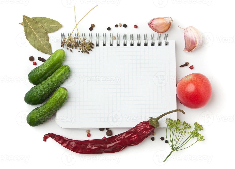 anteckningsbok med recept foto