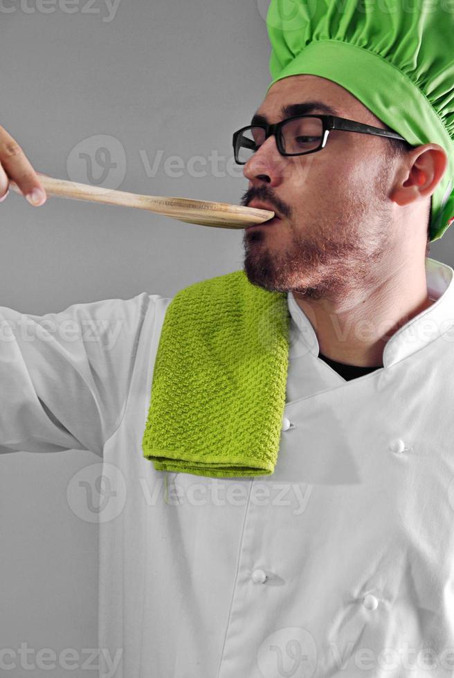 kock som arbetar foto