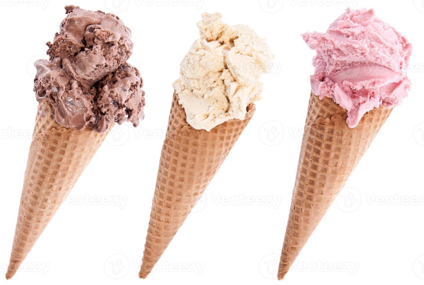 glass i våfflor på vitt foto