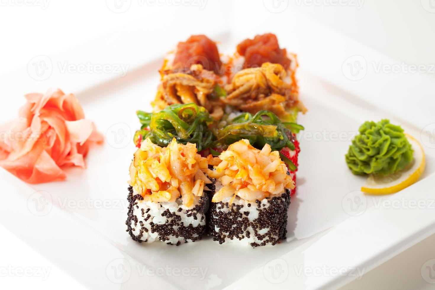 japansk mat - sushirulle foto