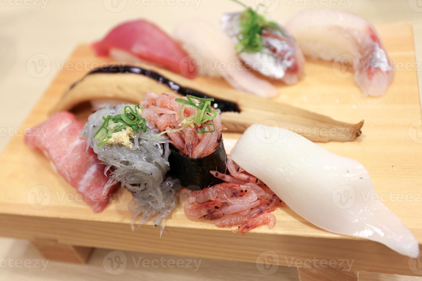 räkor sushi foto