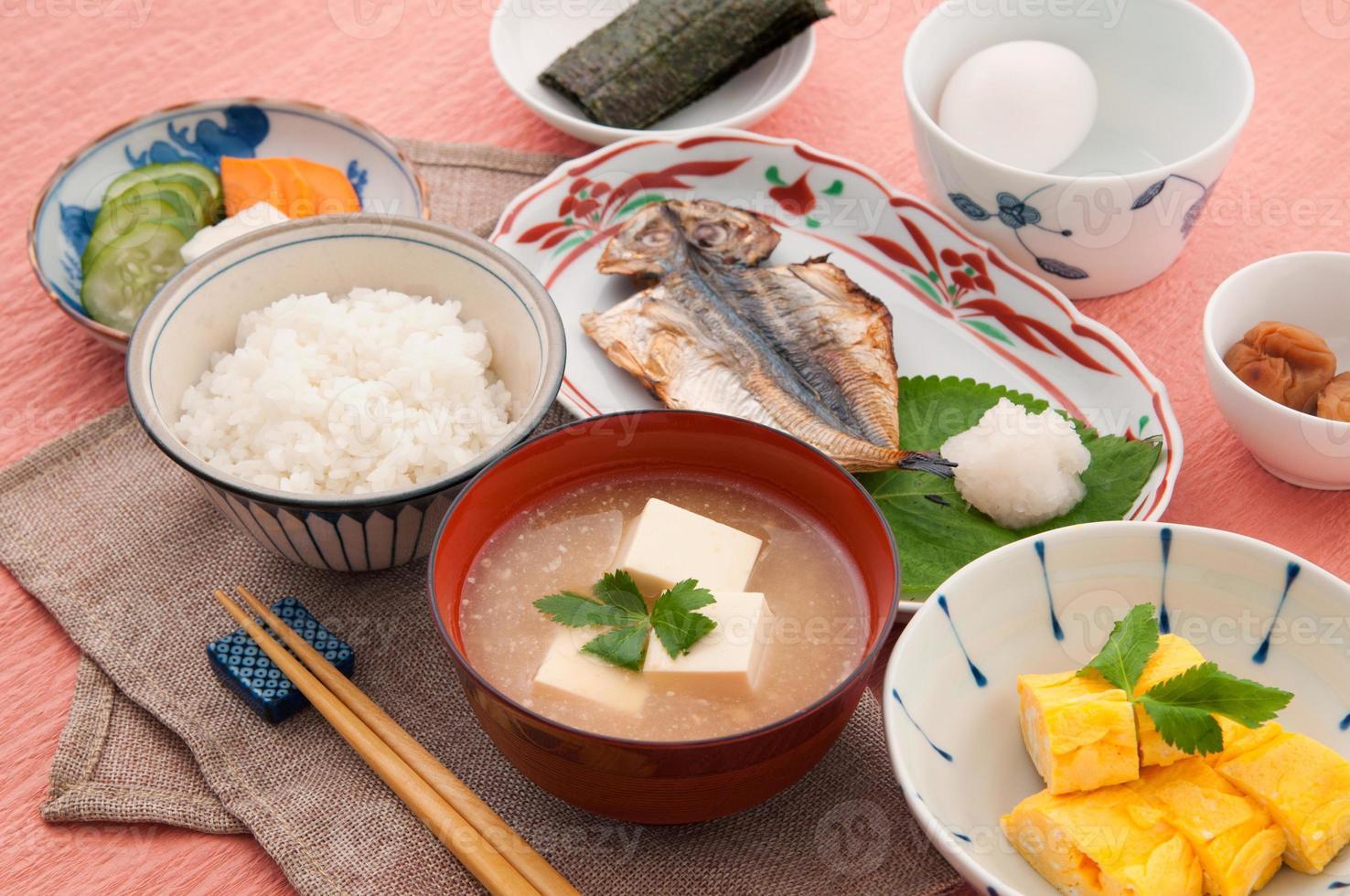 japansk frukost foto