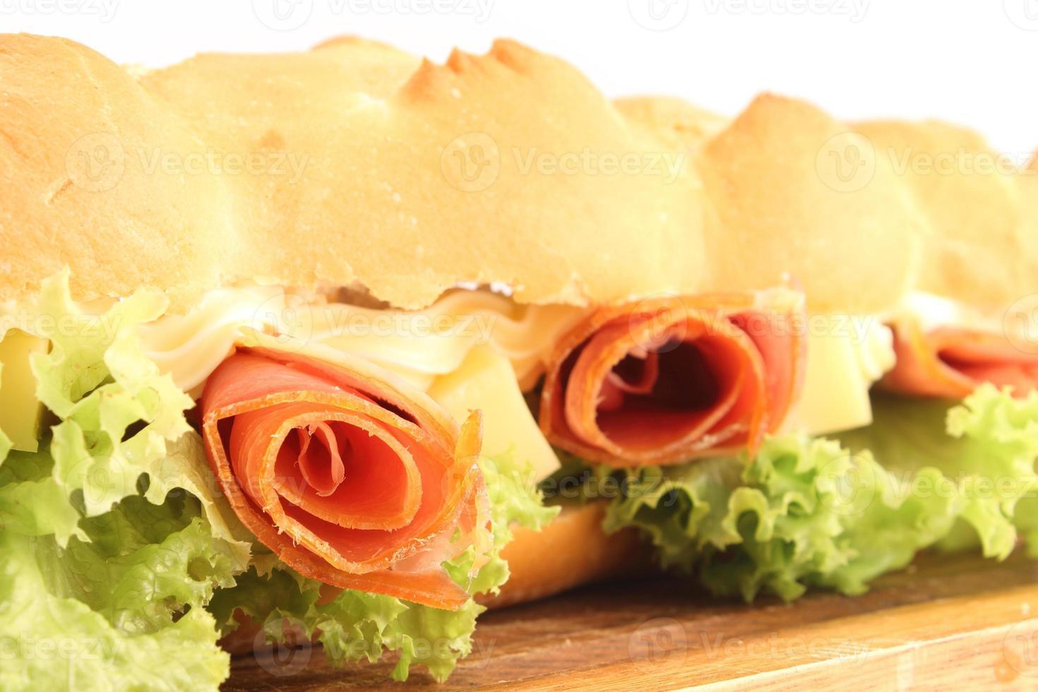 baguette smörgås foto