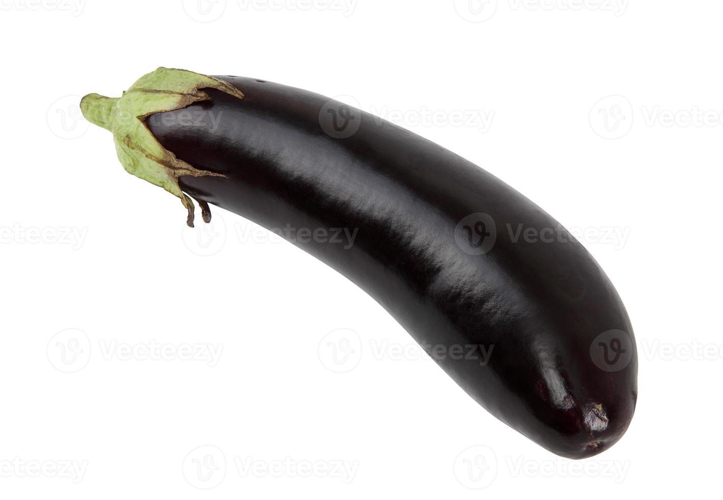 aubergine + urklippsbana foto