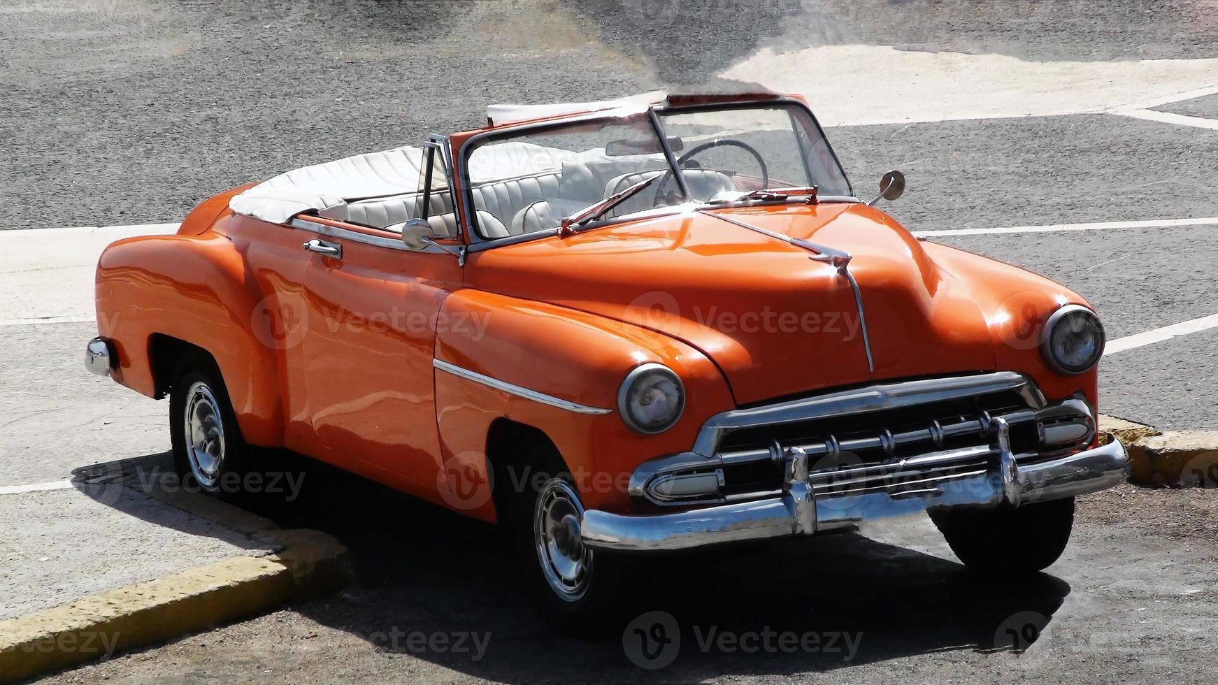 klassisk amerikansk bil cabriolet foto