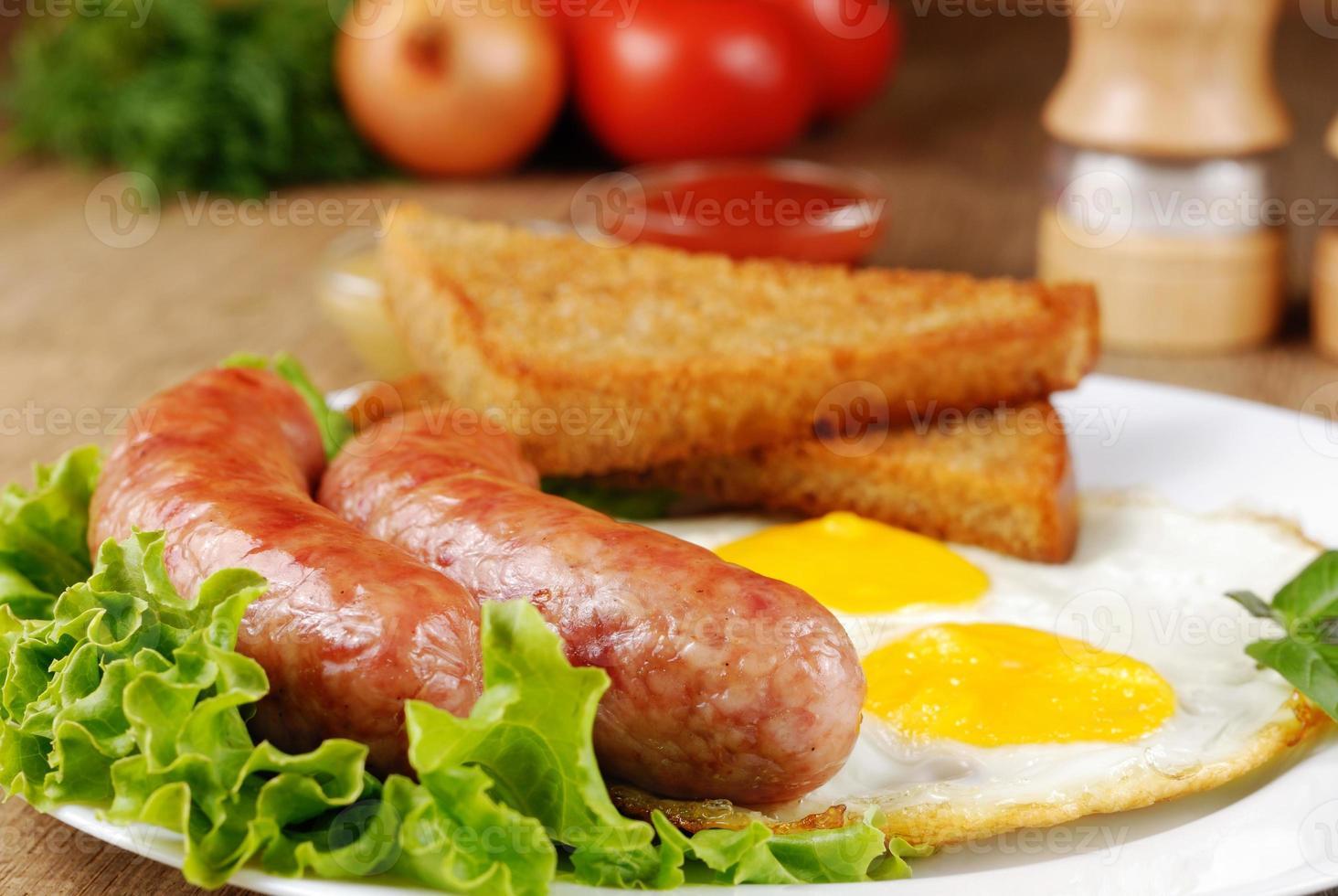 friterade ägg foto