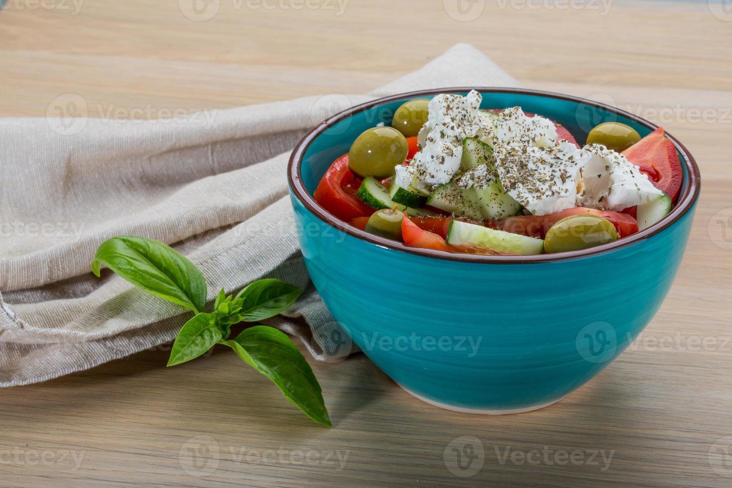 grekisk sallad foto