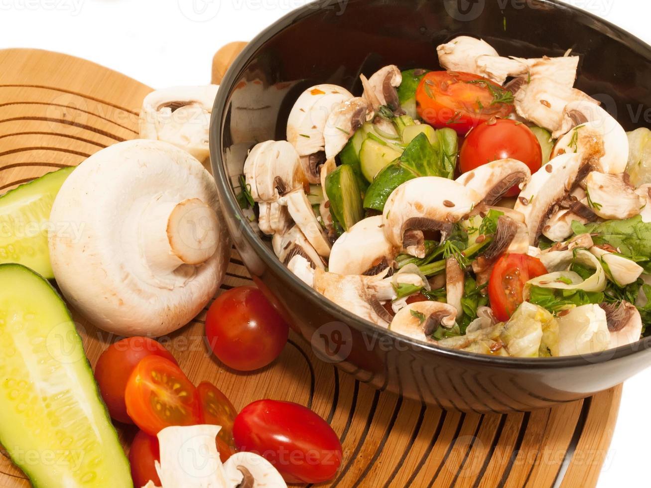 sallad med champignon. foto