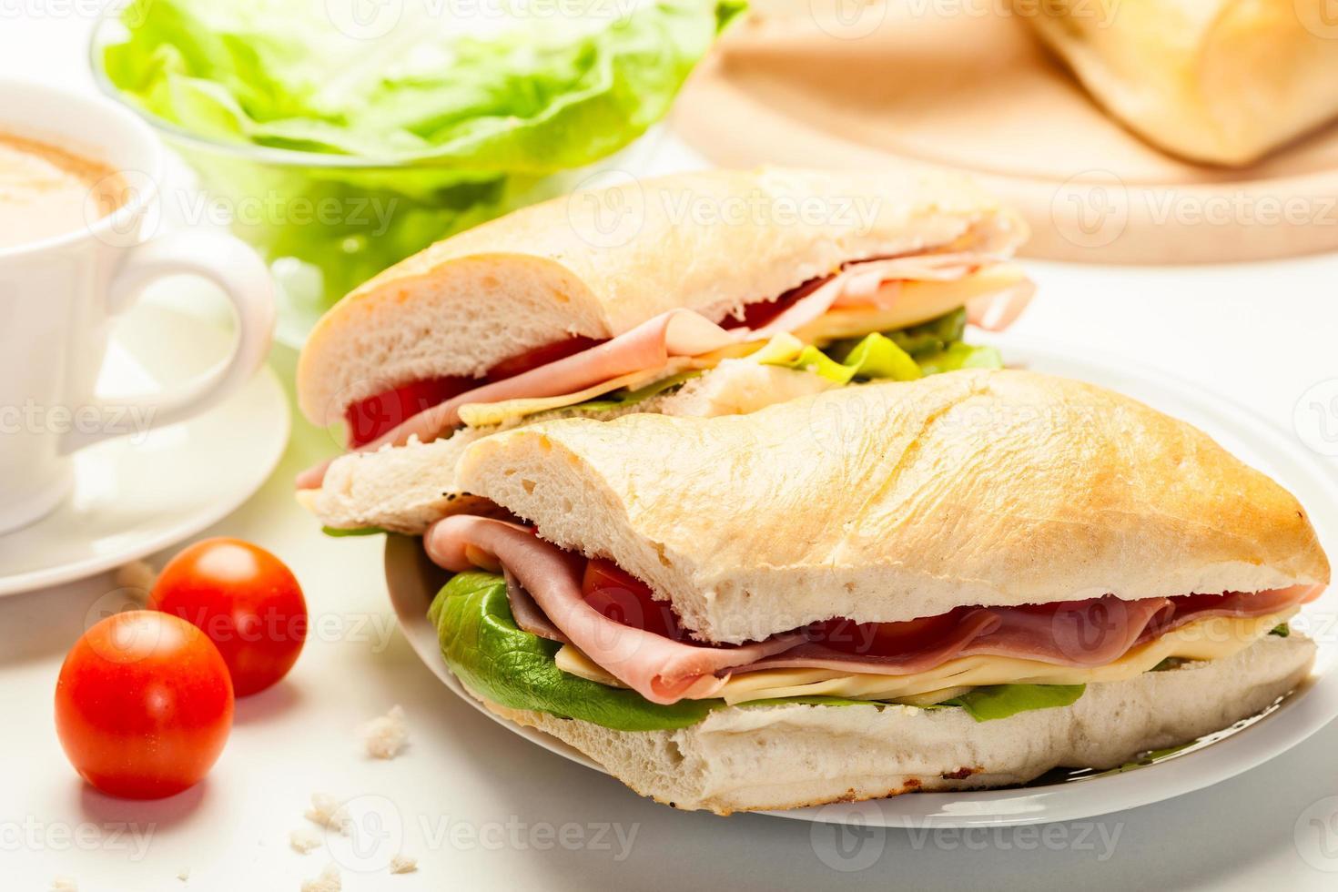 italiensk panini-smörgås foto
