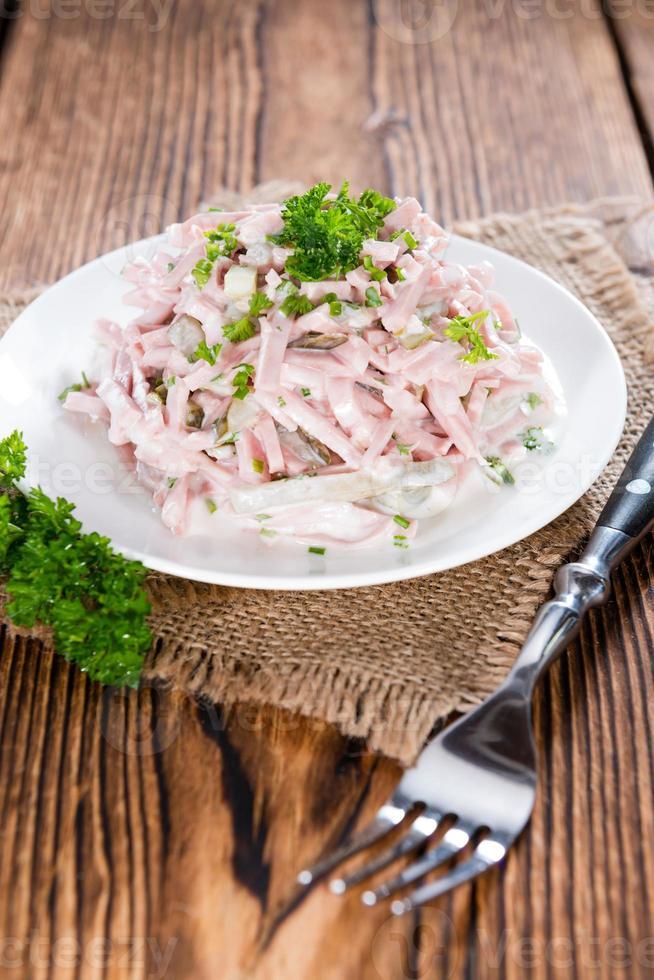 del av hemlagad kött sallad foto