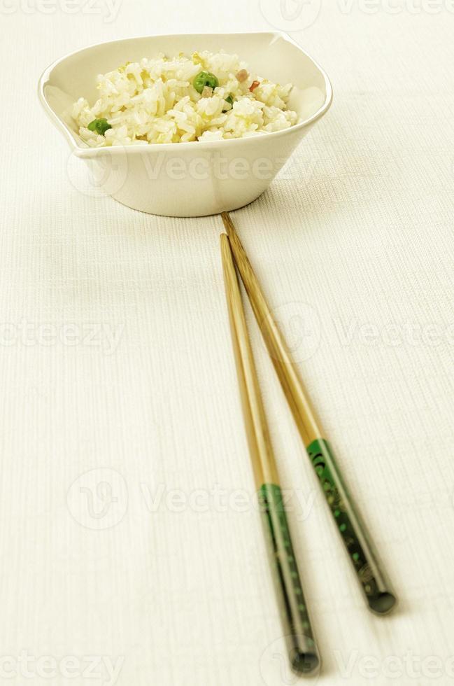 kinesisk mat, kantonesiskt ris foto