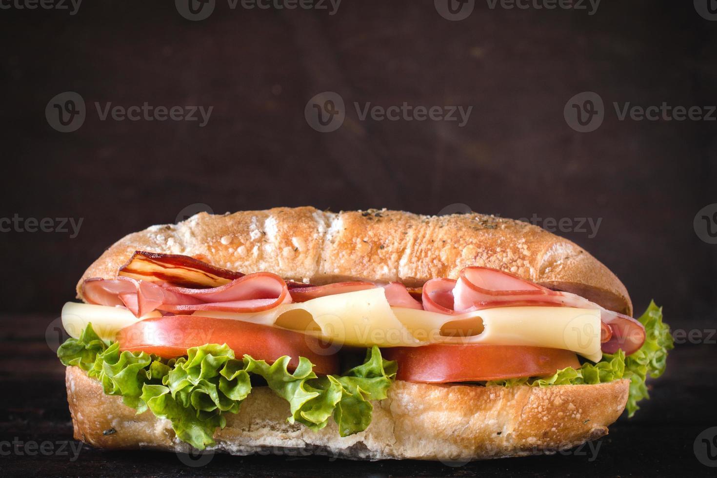 välsmakande smörgås foto
