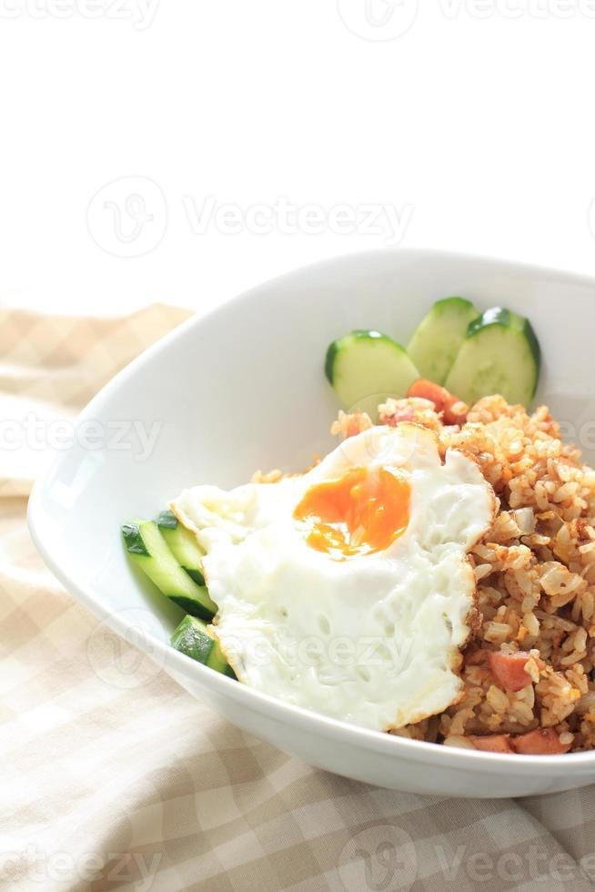indonesisk mat, nasi goreng foto