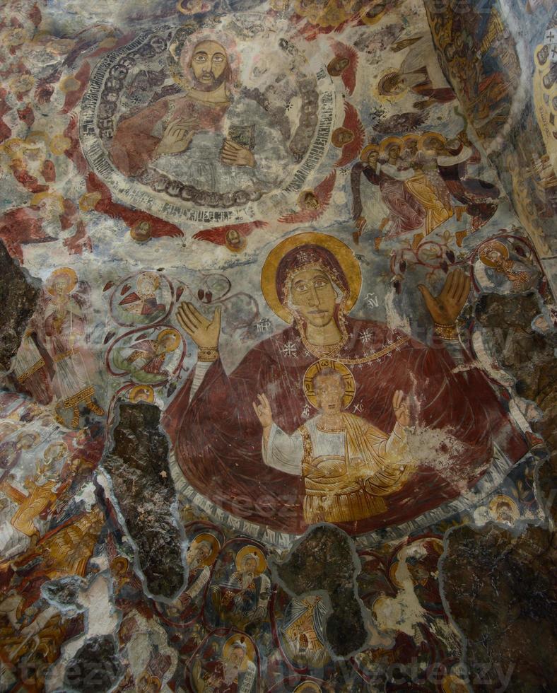 fresco från sumela kloster foto
