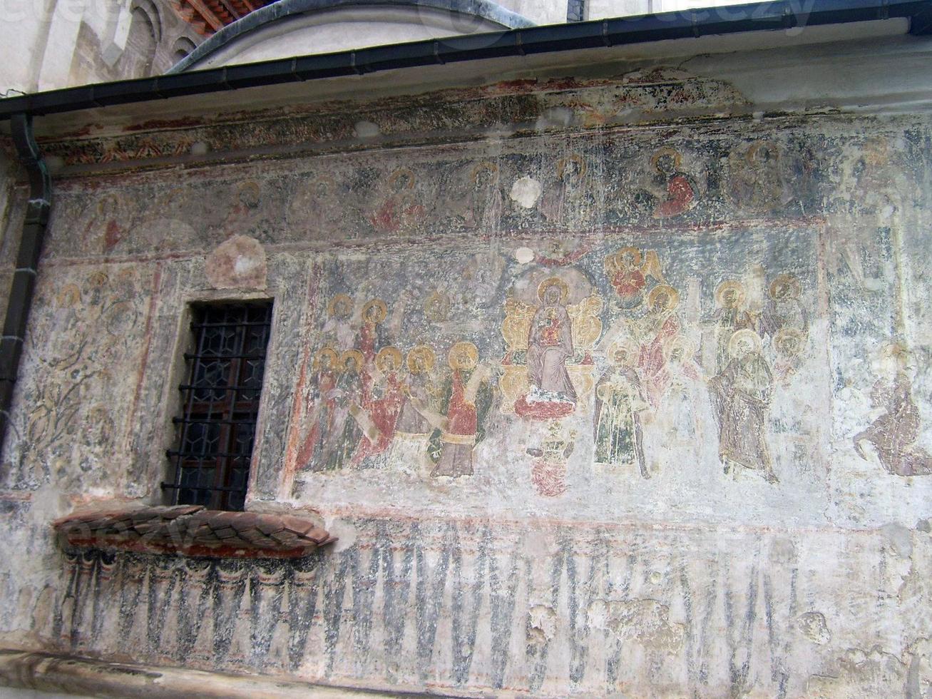 fresco från St Nicholas domkyrka, brasov foto