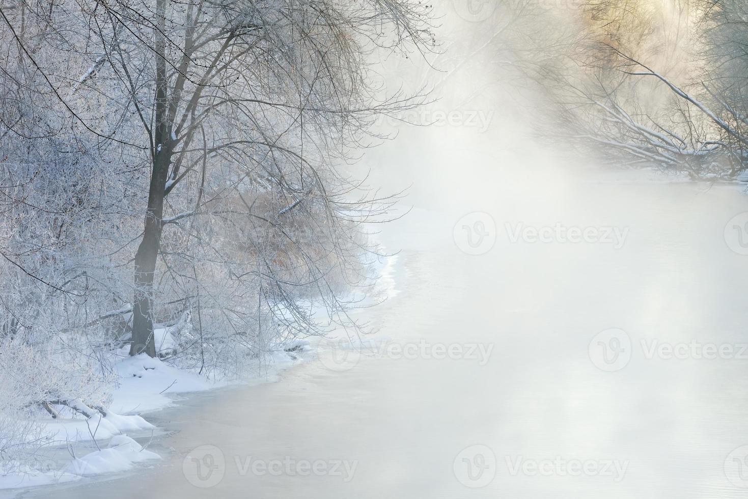 vinter, Kalamazoo River foto