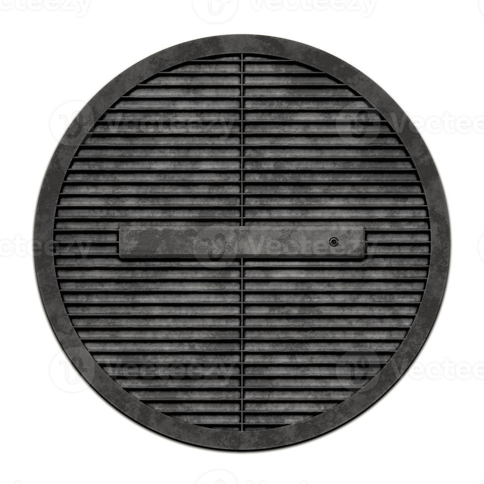 avloppsskydd i metall (manhole serie) foto