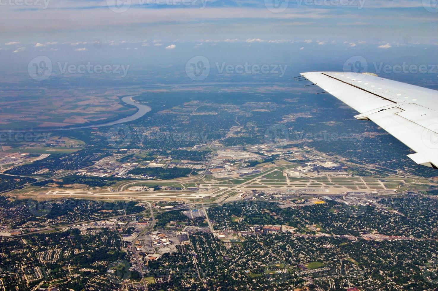 st. louis flygplats från luften foto