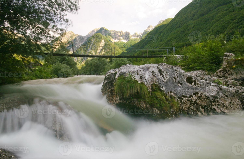alpin flod foto