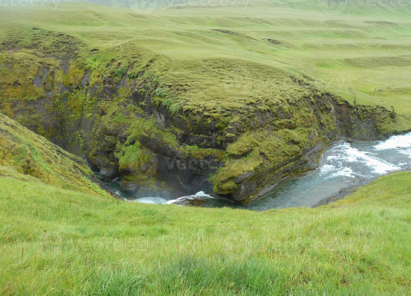 floden i Island foto