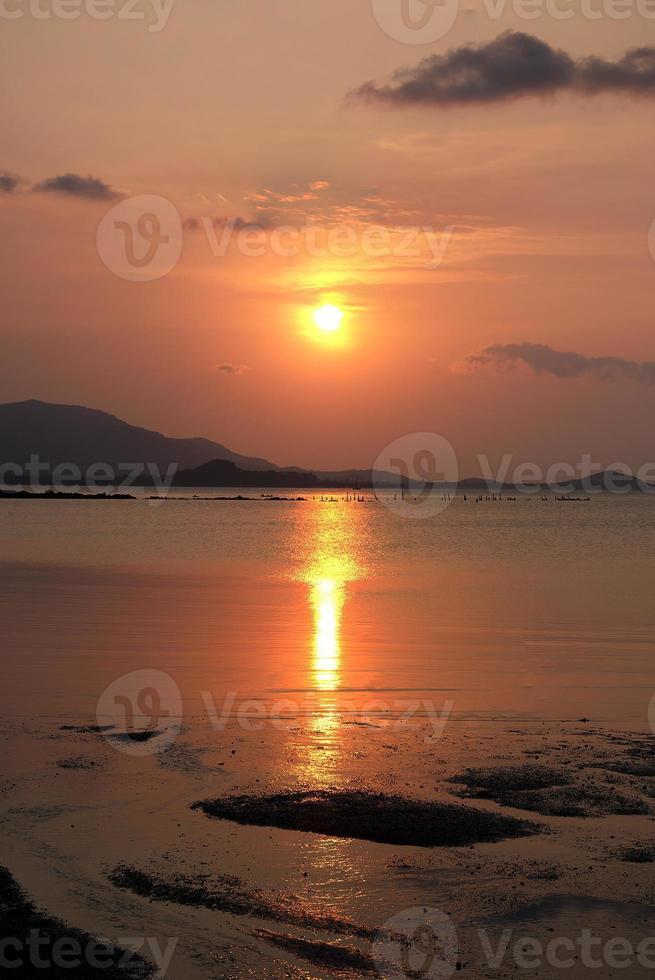 solnedgång på samui ön, surat thani, Thailand foto