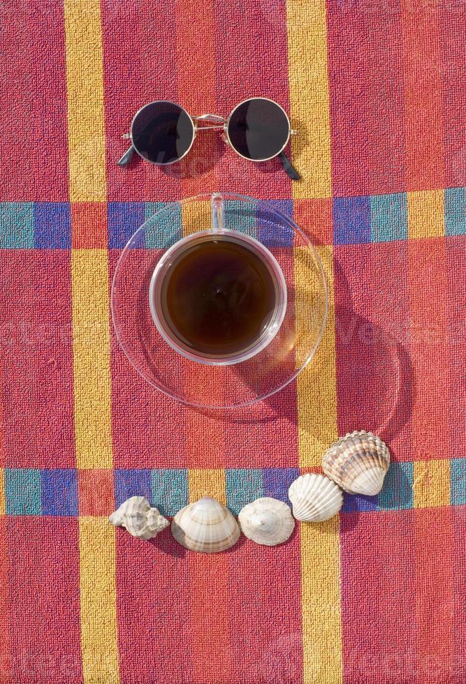 kaffe och sommar foto
