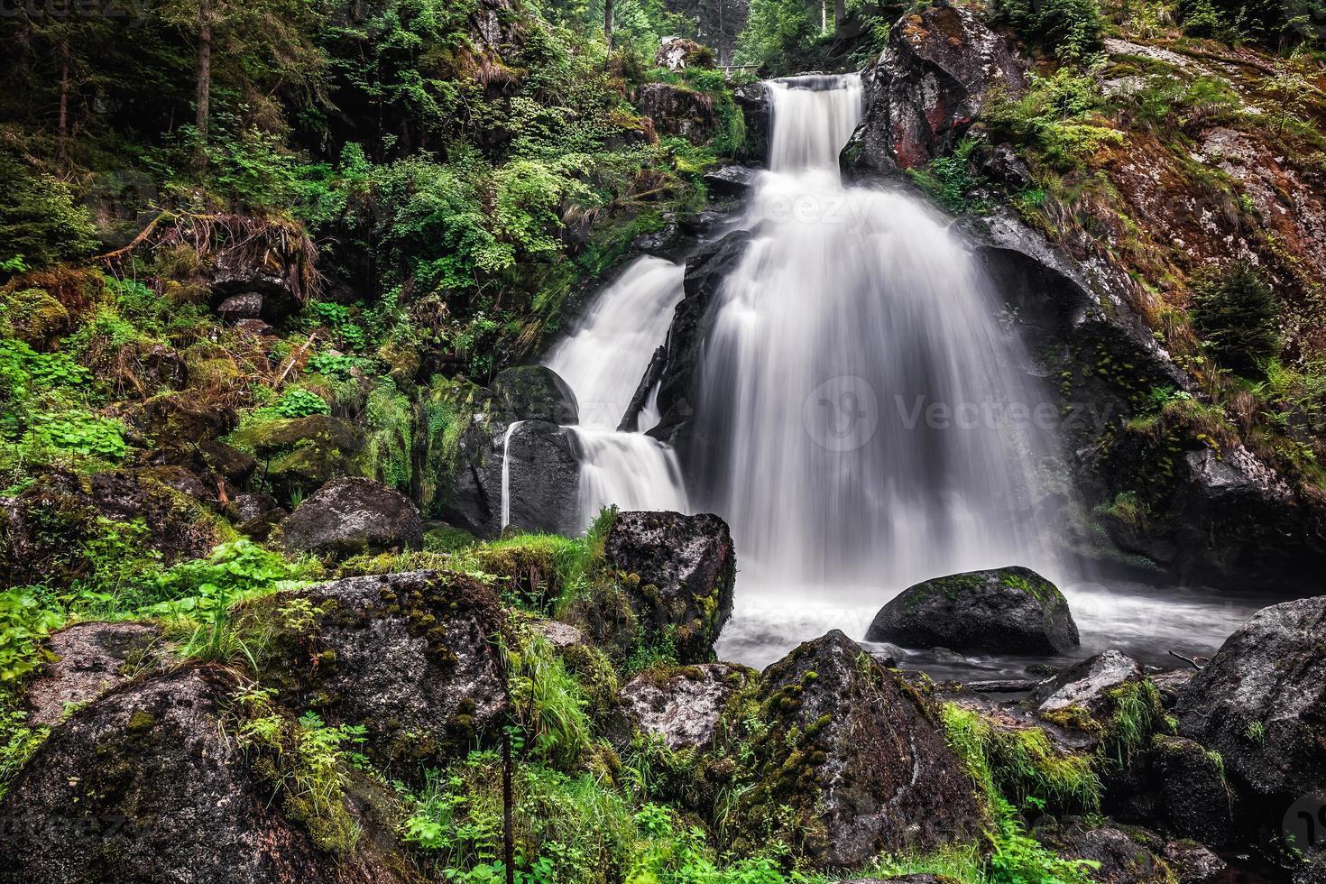 våren vattenfall foto
