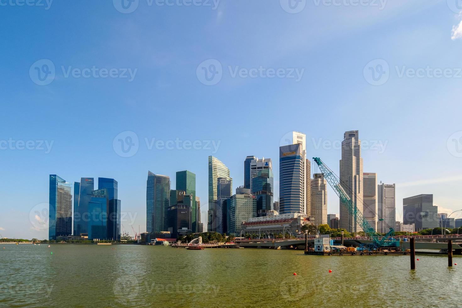 singapore - 20 juni 2014: byggnader i singapore horisont foto