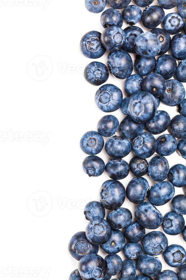 naturlig färsk blåbär närbild foto