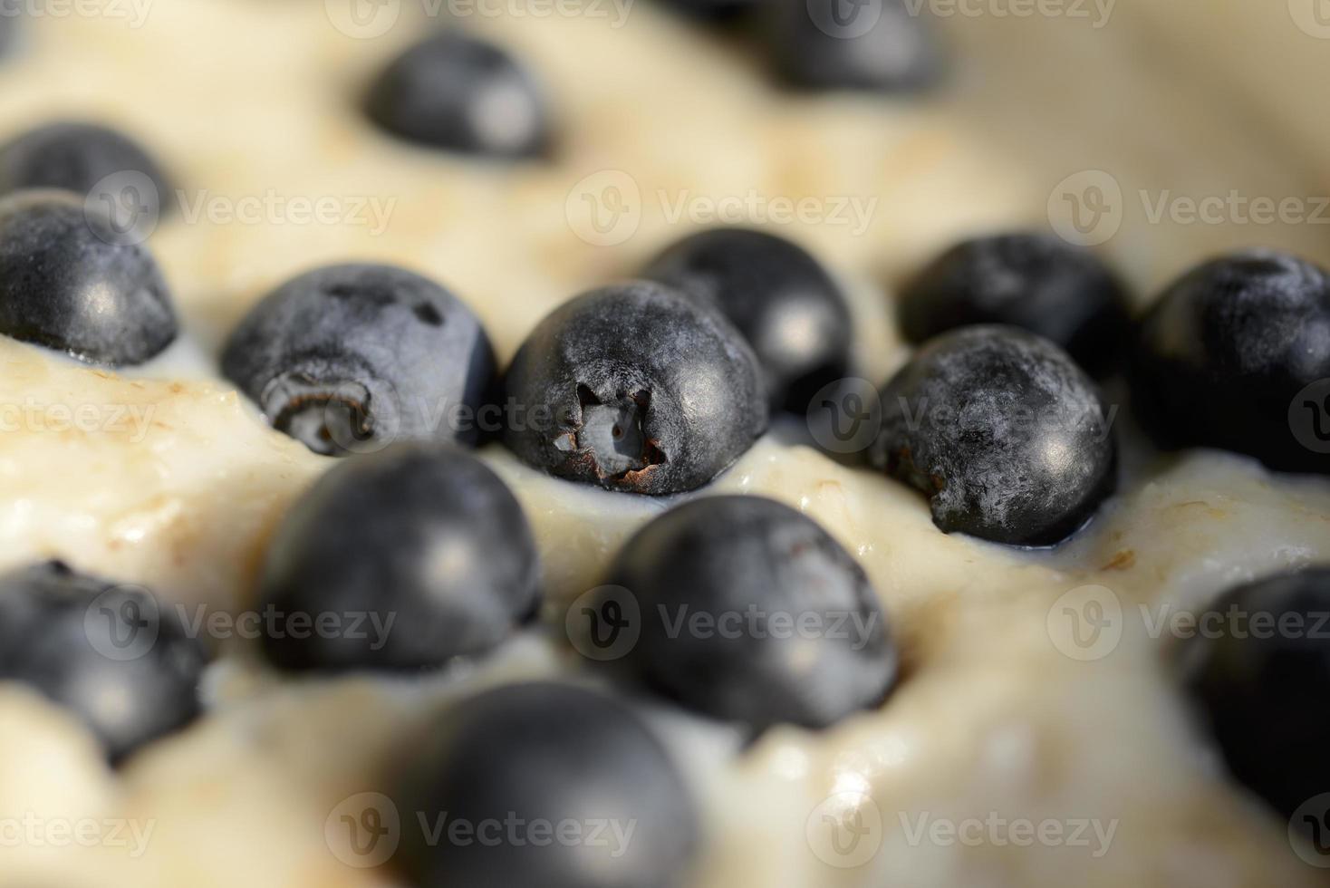 gröt havre med blåbär foto