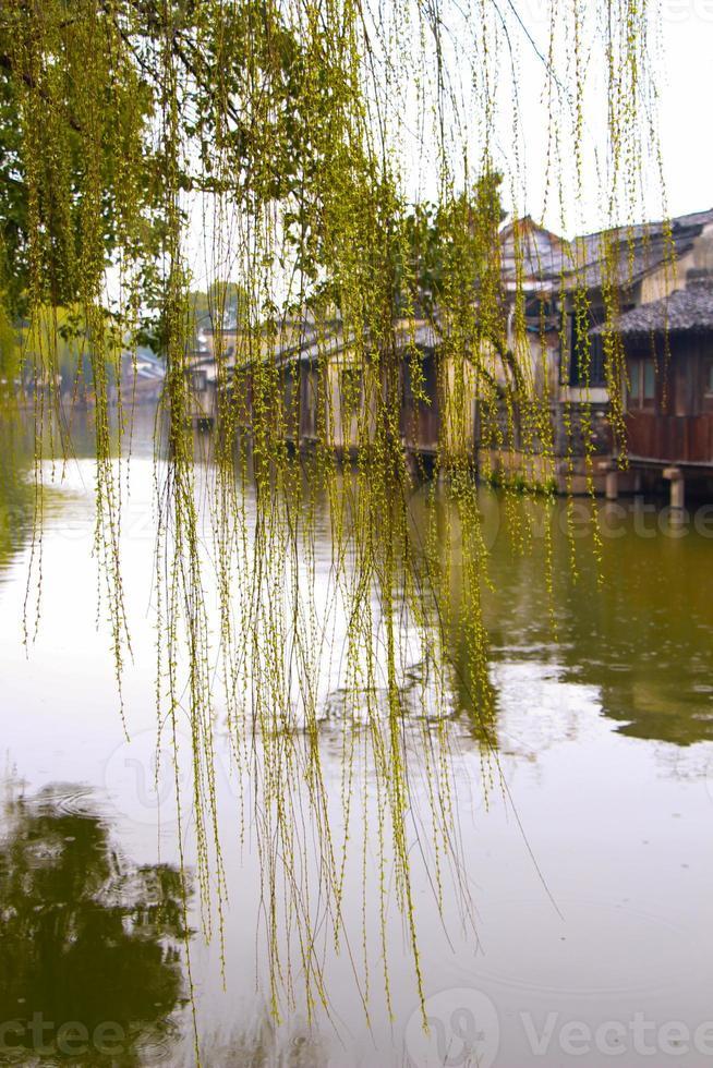 vacker kinesisk vattenstad foto