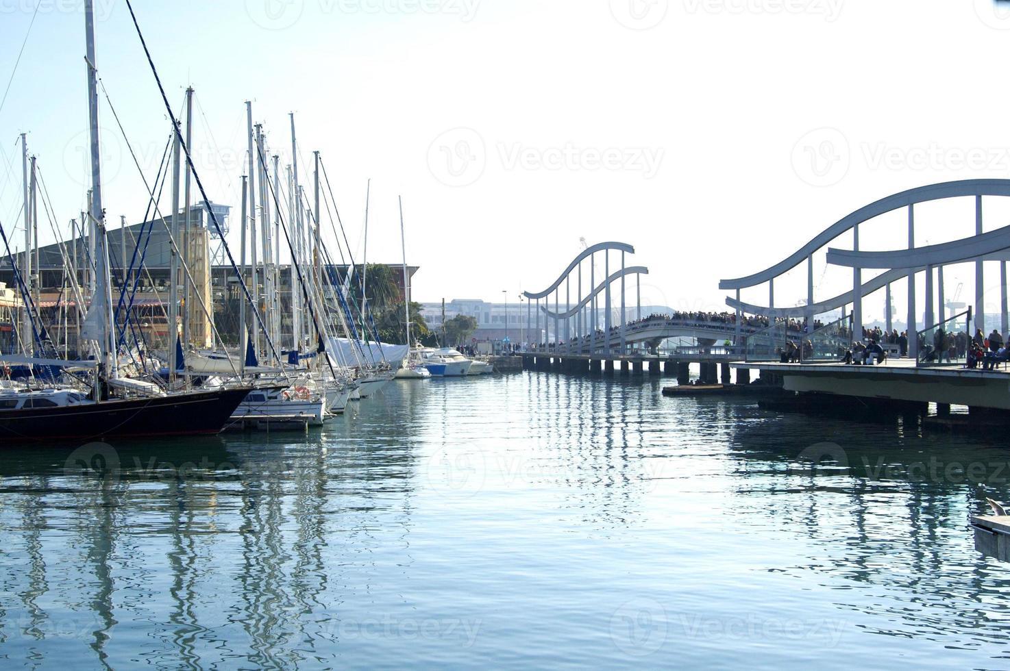 barcelona hamn foto