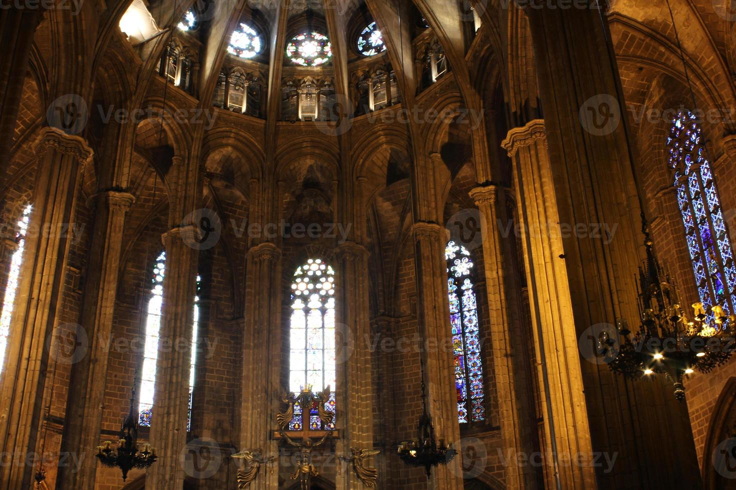 katedralen för det heliga korset och helgonet Eulalia, Barcelona, Spanien foto
