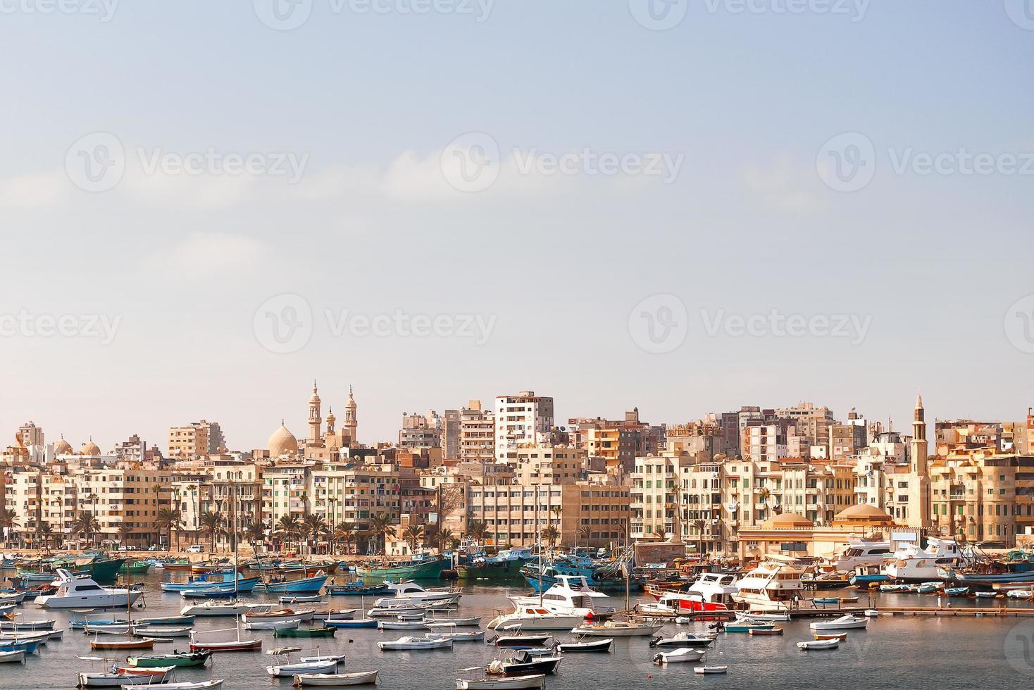 panoramautsikt över Alexandria, Egypten. foto