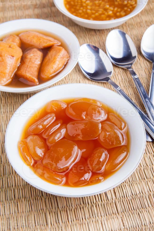 traditionell ramadan mat kolang kaling kompott närbild foto