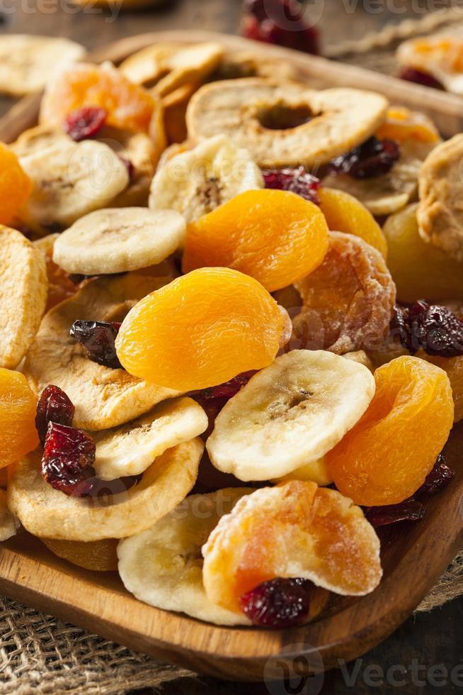 organisk hälsosam blandad torkad frukt foto