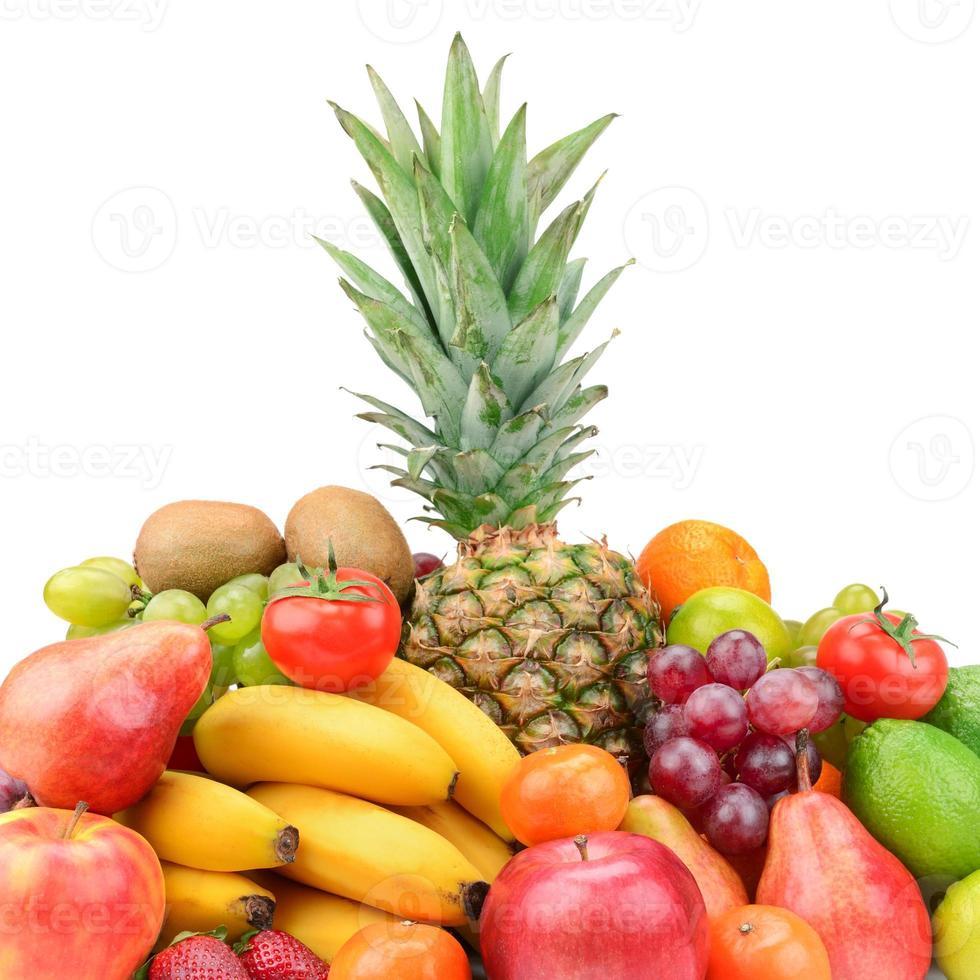samling frukt med ananas foto