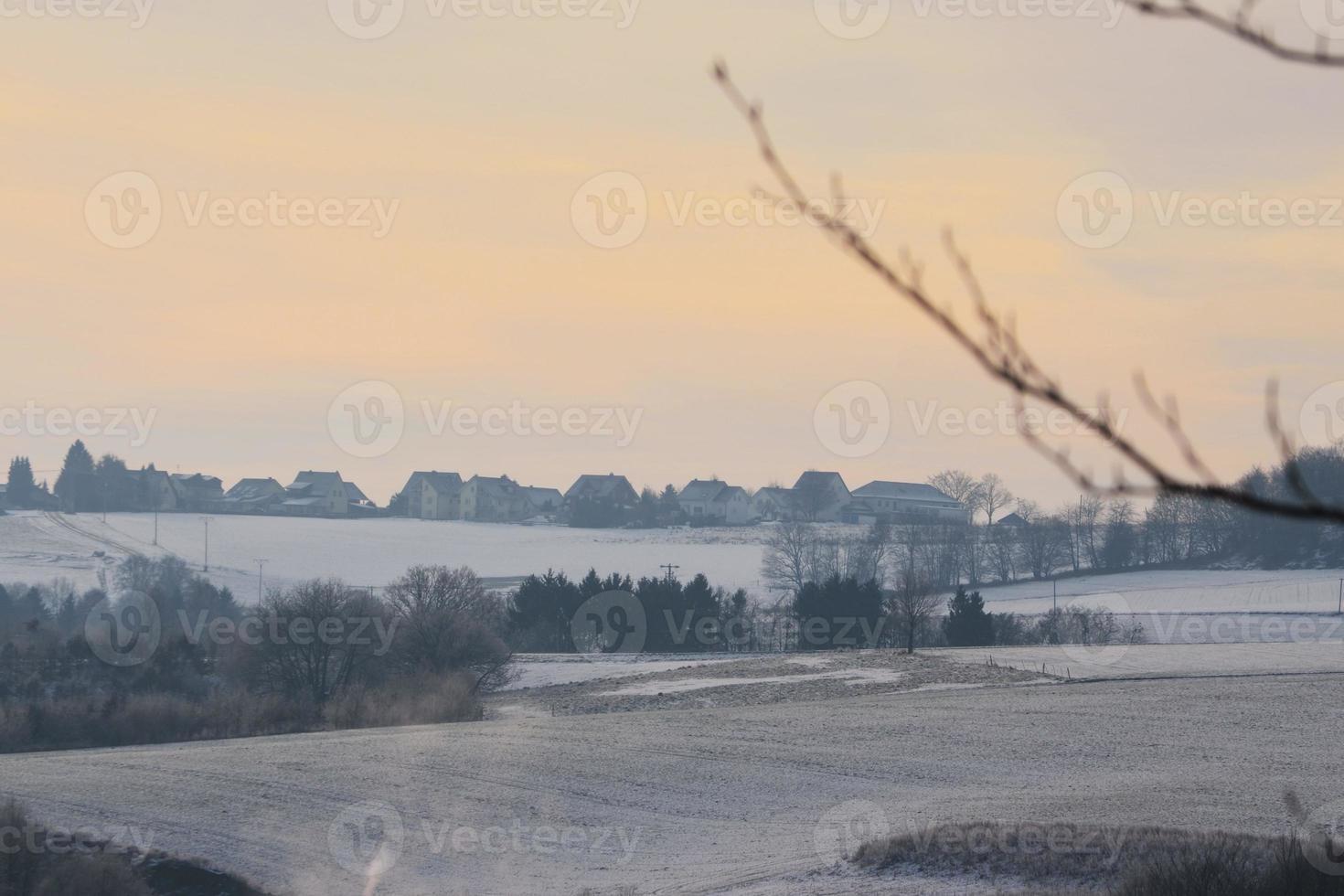 vintrigt landskap foto