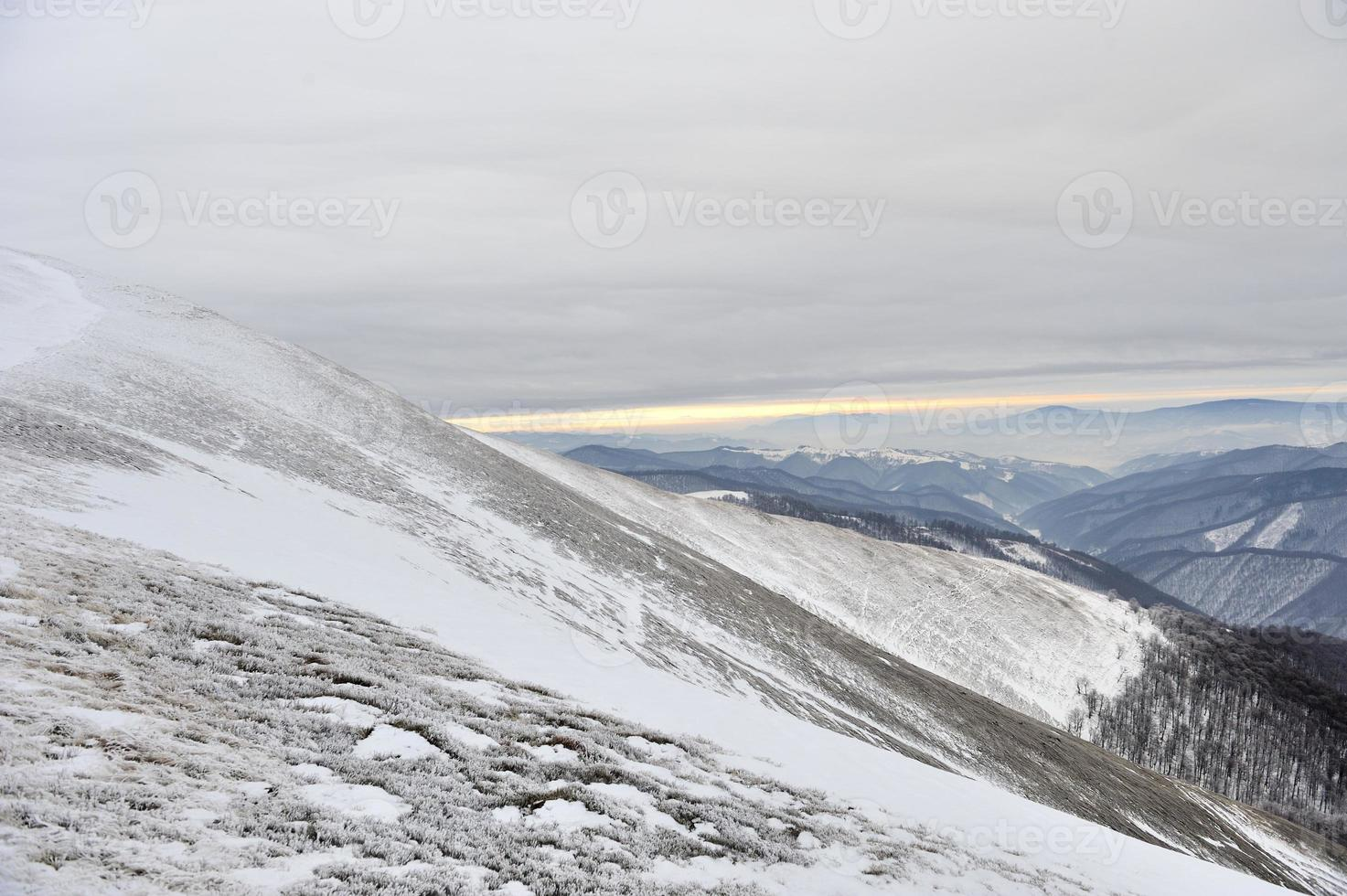 vackert vinterlandskap foto
