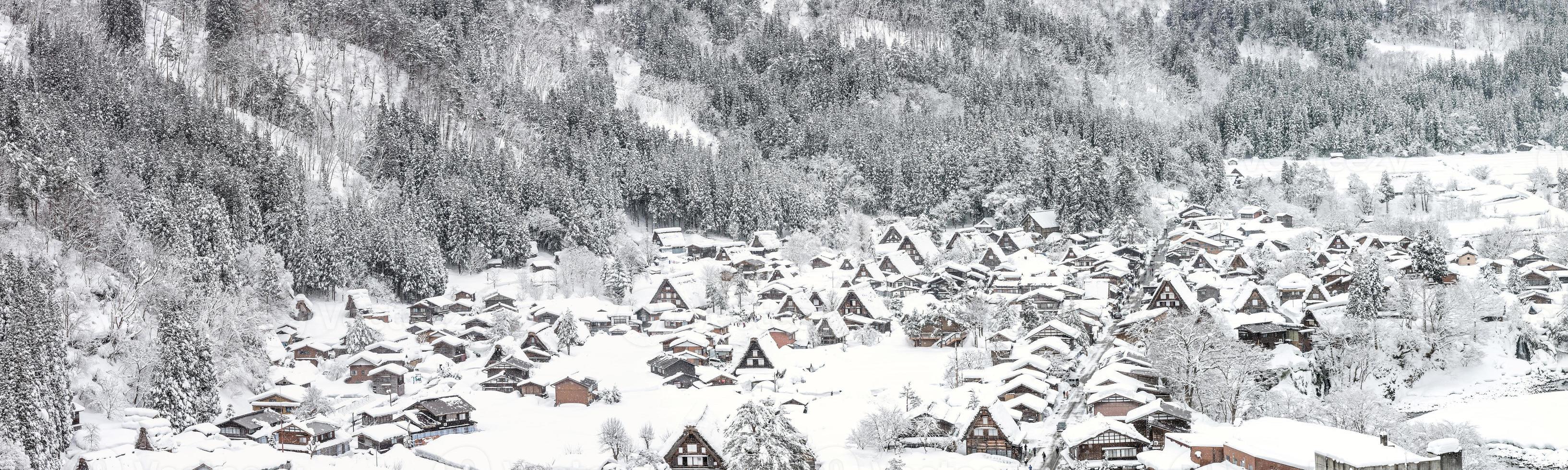 vinter shirakawago foto
