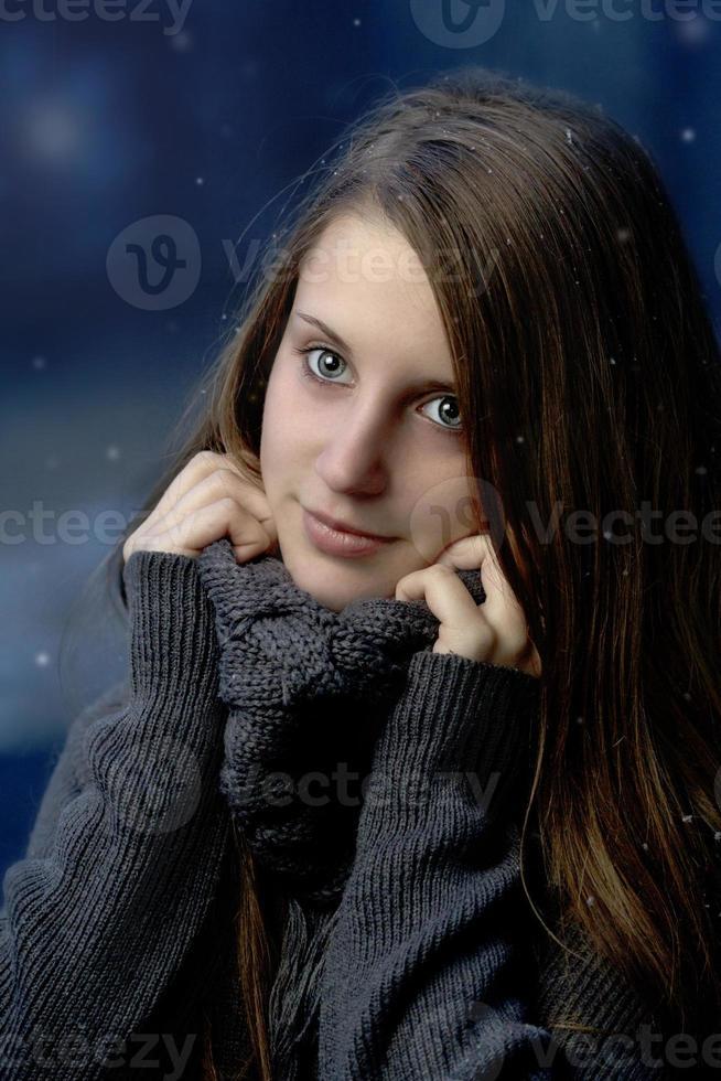 drömmande vinter foto