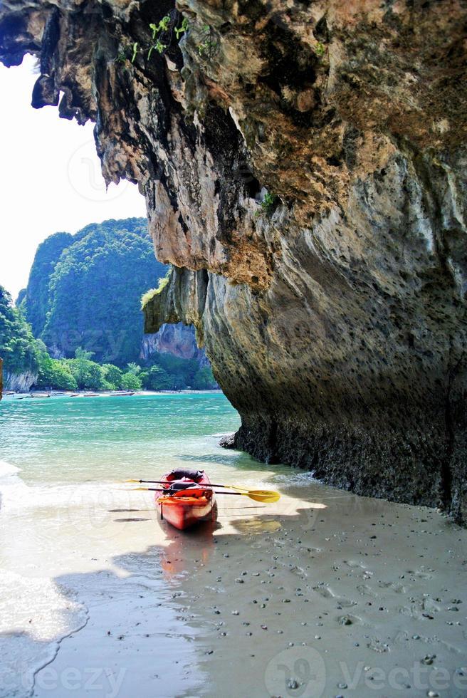 railey beach - krabi thailand foto