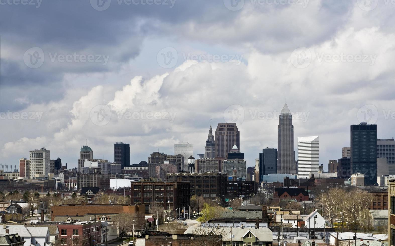 downtown cleveland - en annan vinkel foto
