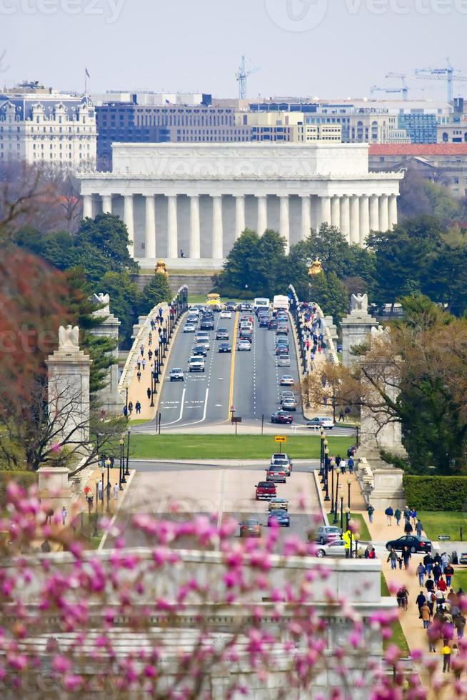 Washington DC. Lincoln-minnesmärke foto